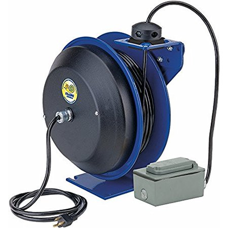 (COXREELS EZ-PC13-5012-F SAFETY SERIES SPRING REWIND POWER CORD REEL)
