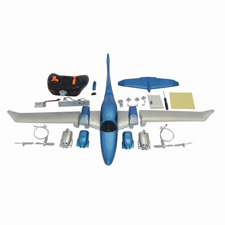 Akoyovwerve GD006 2.4G 3CH RC Airplane DIY Fixed Wing Plane Outdoor Toys with Remote control (Predator Rc Plane)