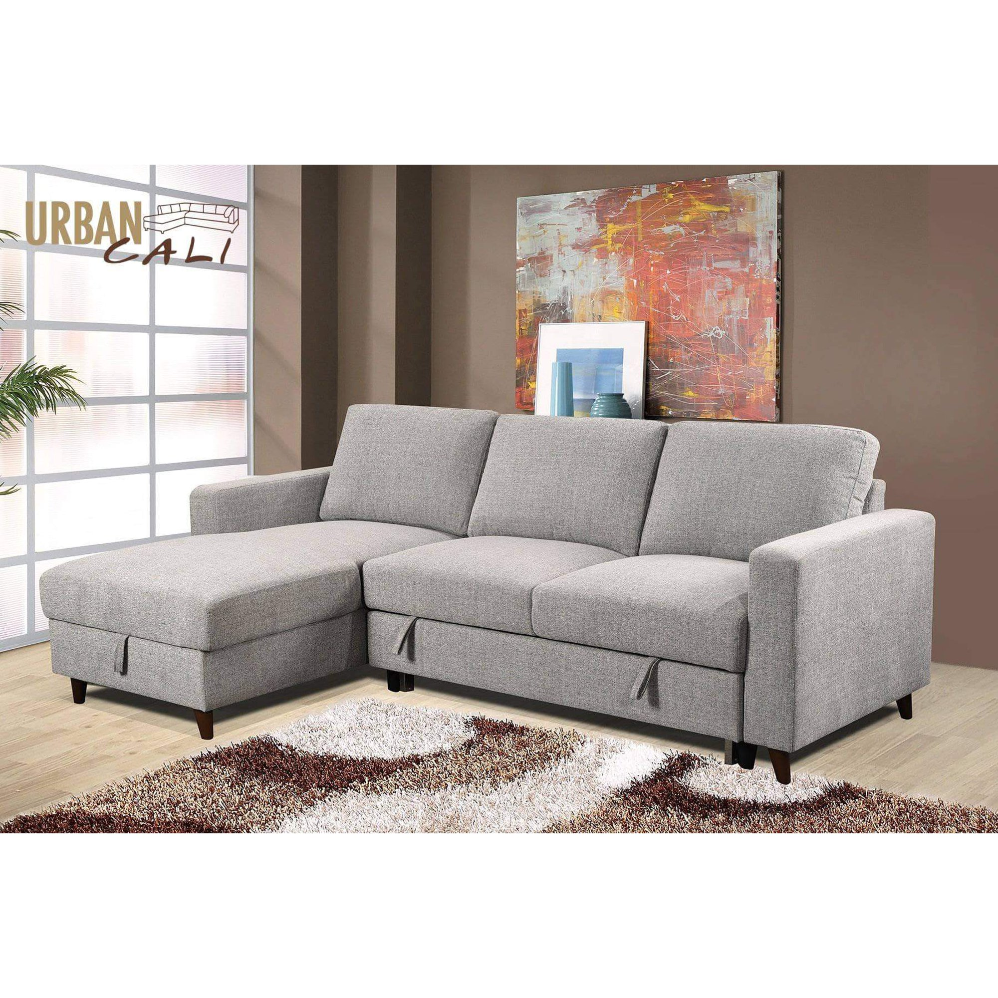 Tremendous Urban Cali Giancarlo Sleeper Sectional Sofa Bed With Storage Pabps2019 Chair Design Images Pabps2019Com