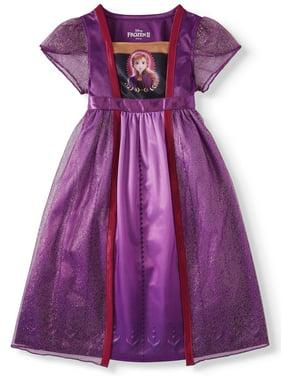 Frozen 2 Anna Toddler Girls Short Sleeve Fantasy Nightgown Pajamas