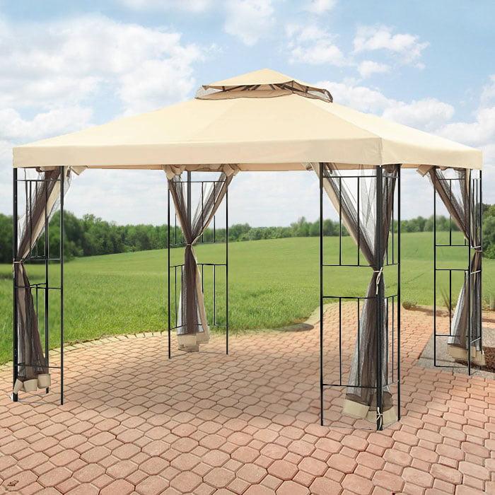 Garden Winds Replacement Canopy for Cabin Garden Gazebo - Riplock 350