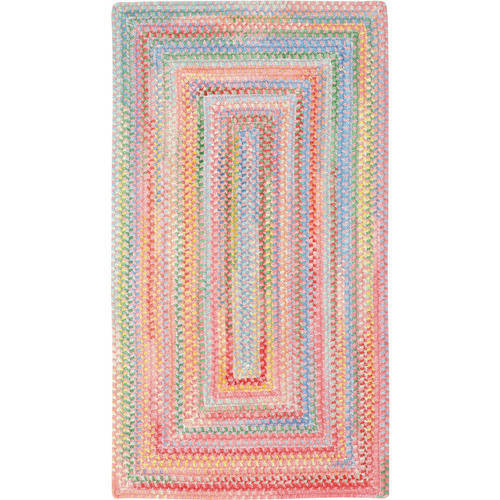 Baby's Breath Concentric Braided Area Rug