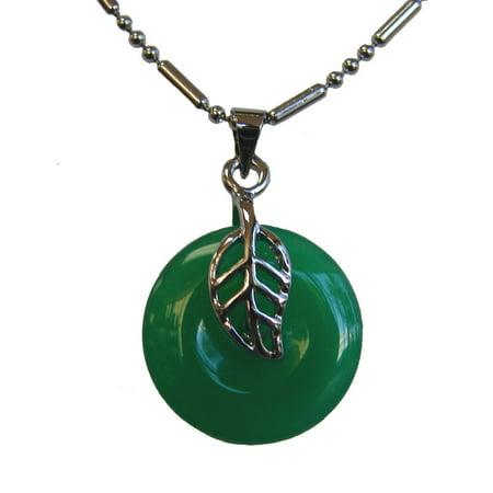 Leaf Jade Pendant ()