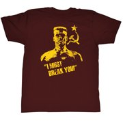 Rocky MGM Movie Drago Break You Red Adult T-Shirt Tee