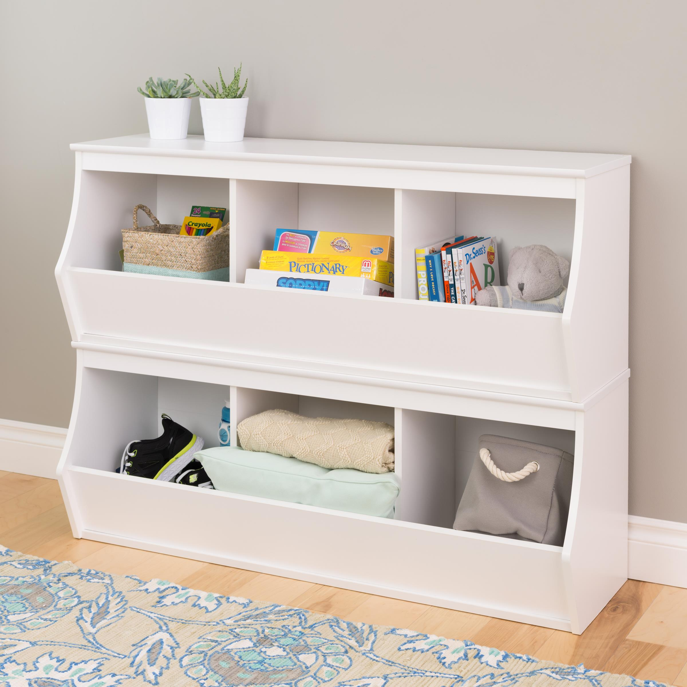 Wildon Home  Stacked 6 Bin Storage Cubby