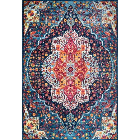 Nuloom Polypropylene 4' X 6' Rectangle Area Rugs In Blue Finish 200RZDR08B-406 ()