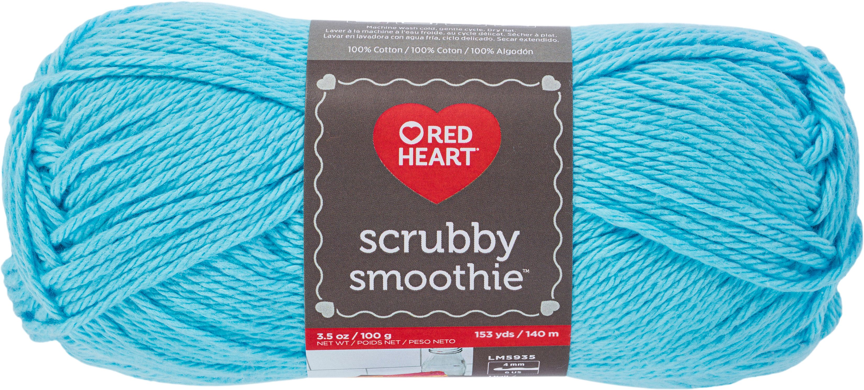 3 Pack Red Heart Scrubby Smoothie Yarn-Caribbean