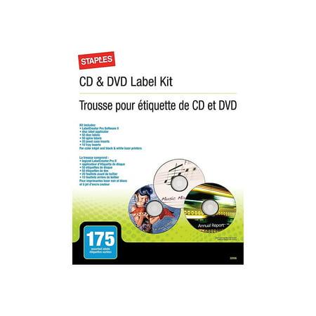 Staples Cd Labels (Staples CD/DVD Label Kit 499651)