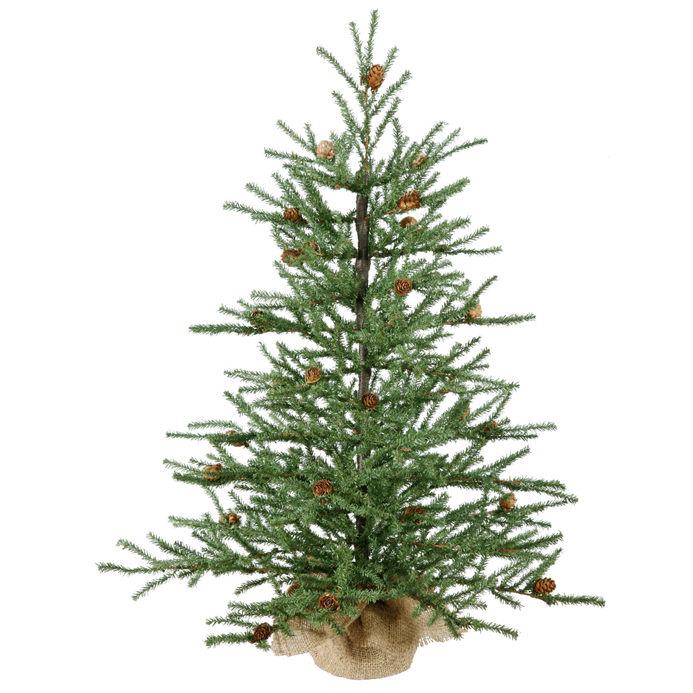 "Vickerman 30"" Carmel Pine Artificial Christmas Tree, Unlit"