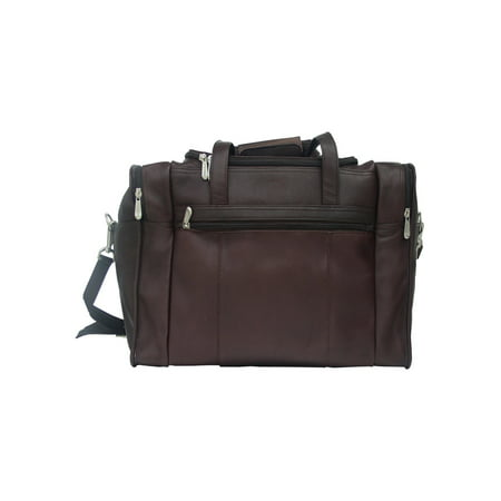 Piel Leather Travel Duffel with Side (Piel Leather Front Pocket)