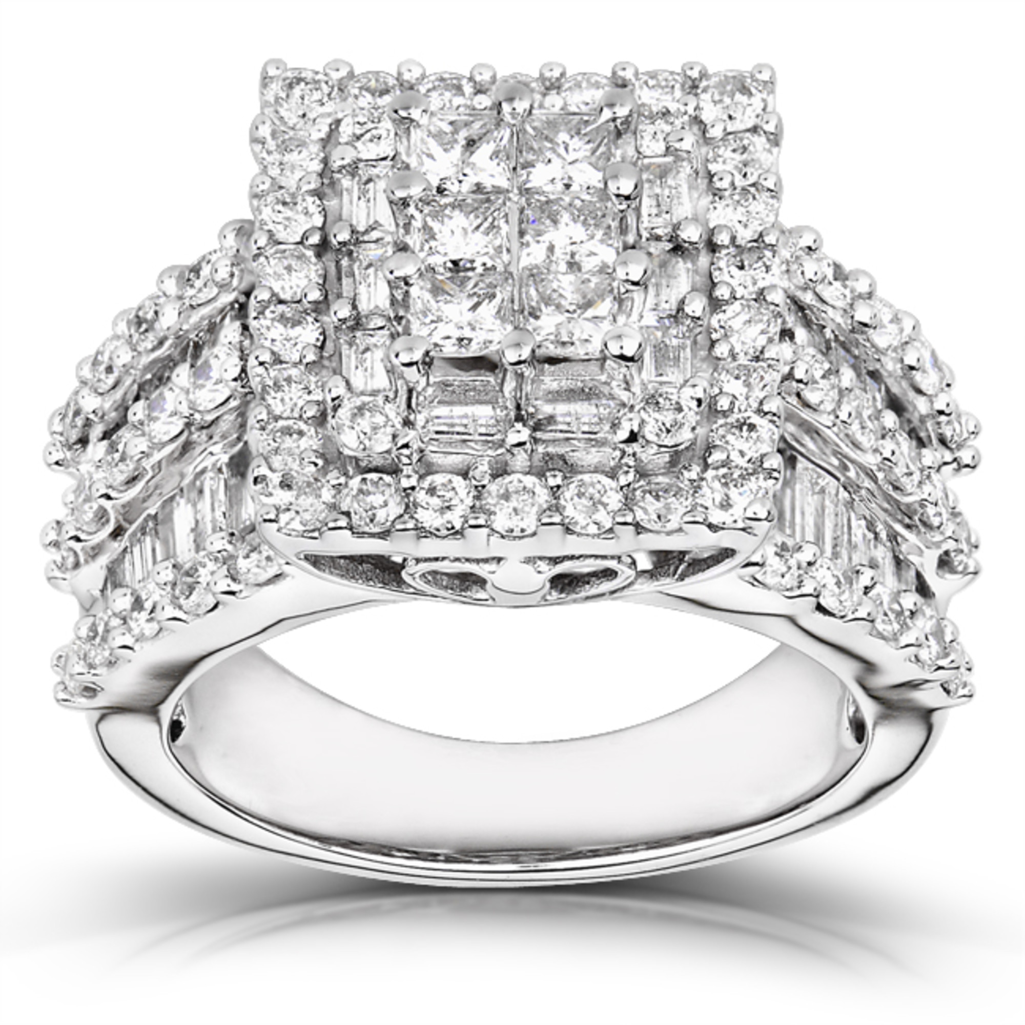 Kobelli Diamond Engagement Ring 2 carats (ctw) in 14K Gold