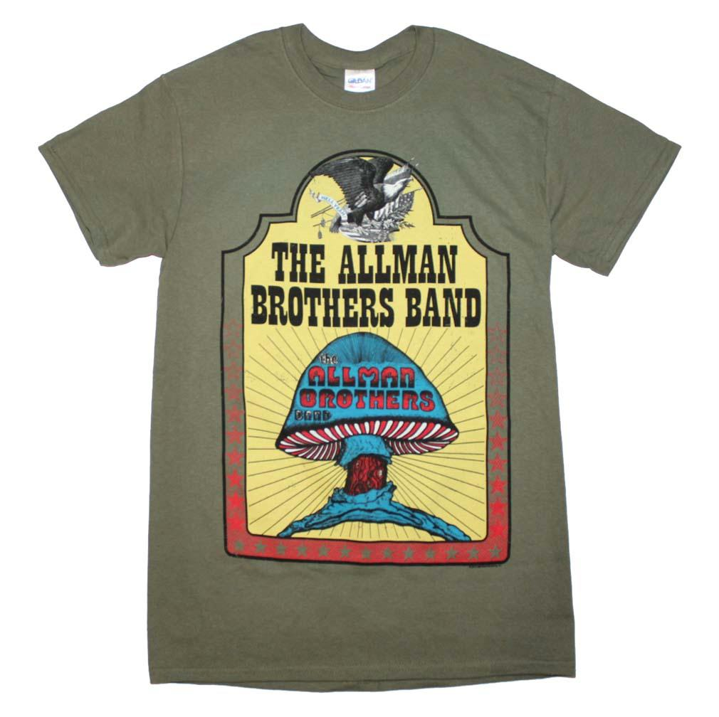 Allman Brothers Hell Yeah T-Shirt - Military Green - XL