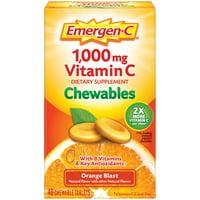 Emergen-C Chewables (40 Ct, Orange Blast Flavor) With Vitamin C