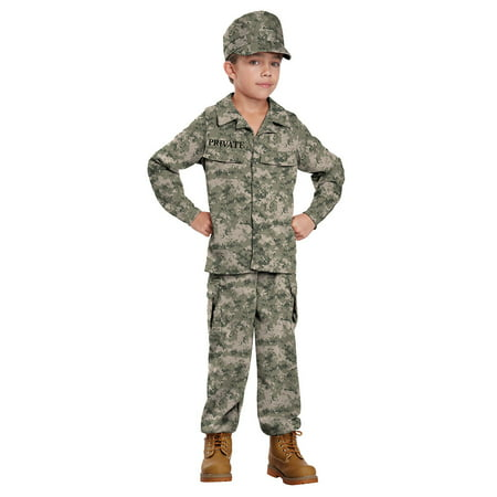 Boys Soldier Military Halloween Costume - Desert Army Costume
