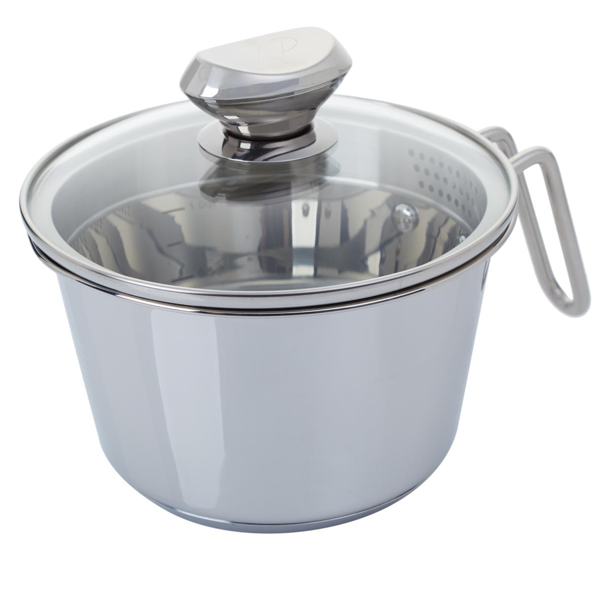 Wolfgang Puck 6 Cup Stainless Steel Pot With Colander Lid Model 696 792 Walmart Com Walmart Com