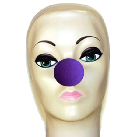 Magic By Gosh Violet Foam Clown Noses (1 5/8