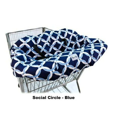 Ritzy Sitzy Shopping Cart & High Chair Cover - Social Circle - Blue