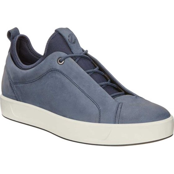 1b2b731a ECCO - Men's ECCO Soft 8 Low Sneaker Marine Leather 44 M - Walmart.com