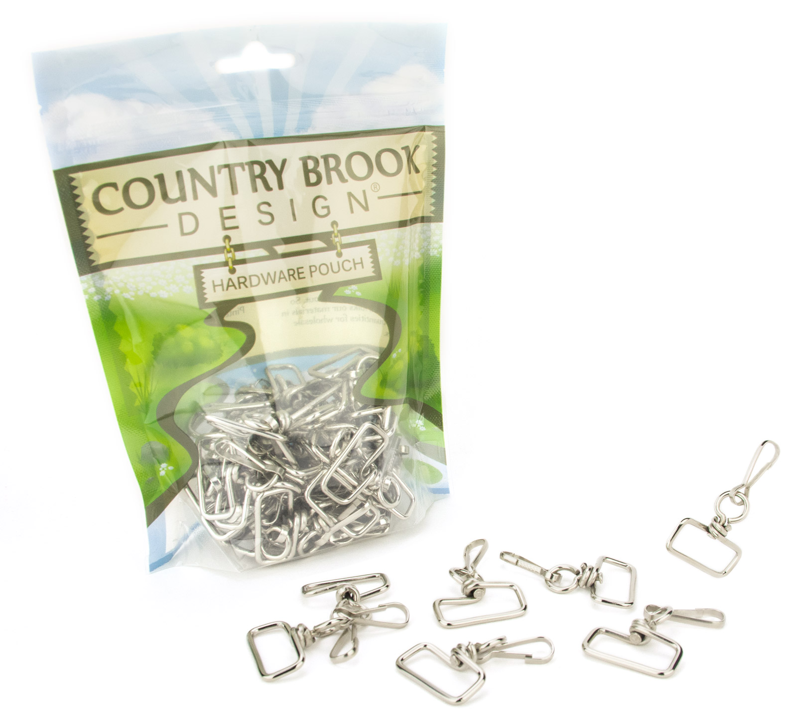 Country Brook Design 1 Inch Swivel Square Top Lanyard Hooks