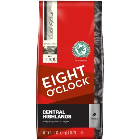 Eight Oclock  Central Highlands Whole Bean Coffee 11 Oz  Bag