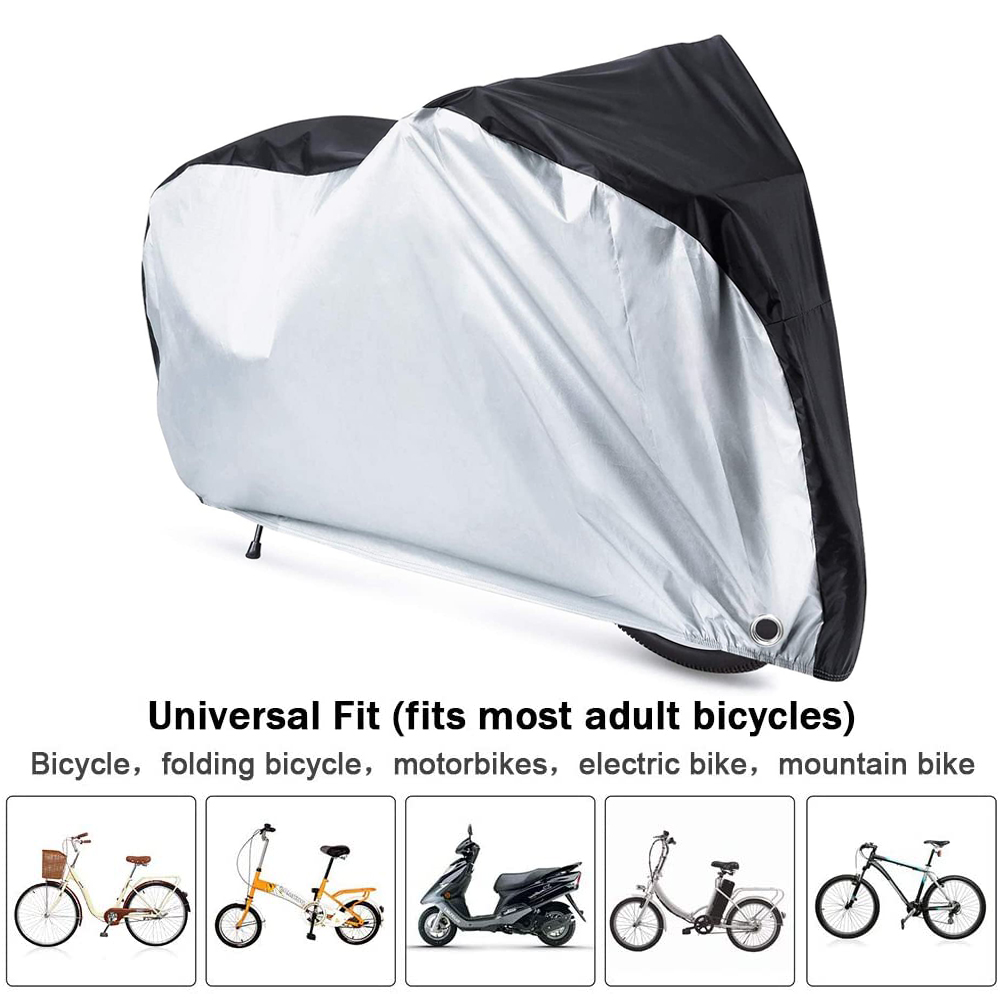 Universal Bicycle Bike Cover Waterproof UV All Weather Resistant Red For 2 Bikes