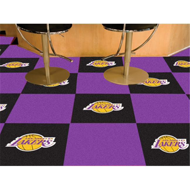 FANMATS 9304 Los Angeles Lakers Carpet Tiles 18 inch x 18 inch tiles
