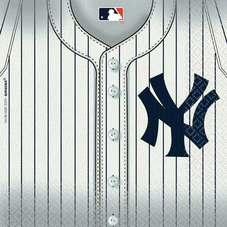 Yankees Luncheon Napkins (36 Pack) - Party Supplies - Baseball Napkins