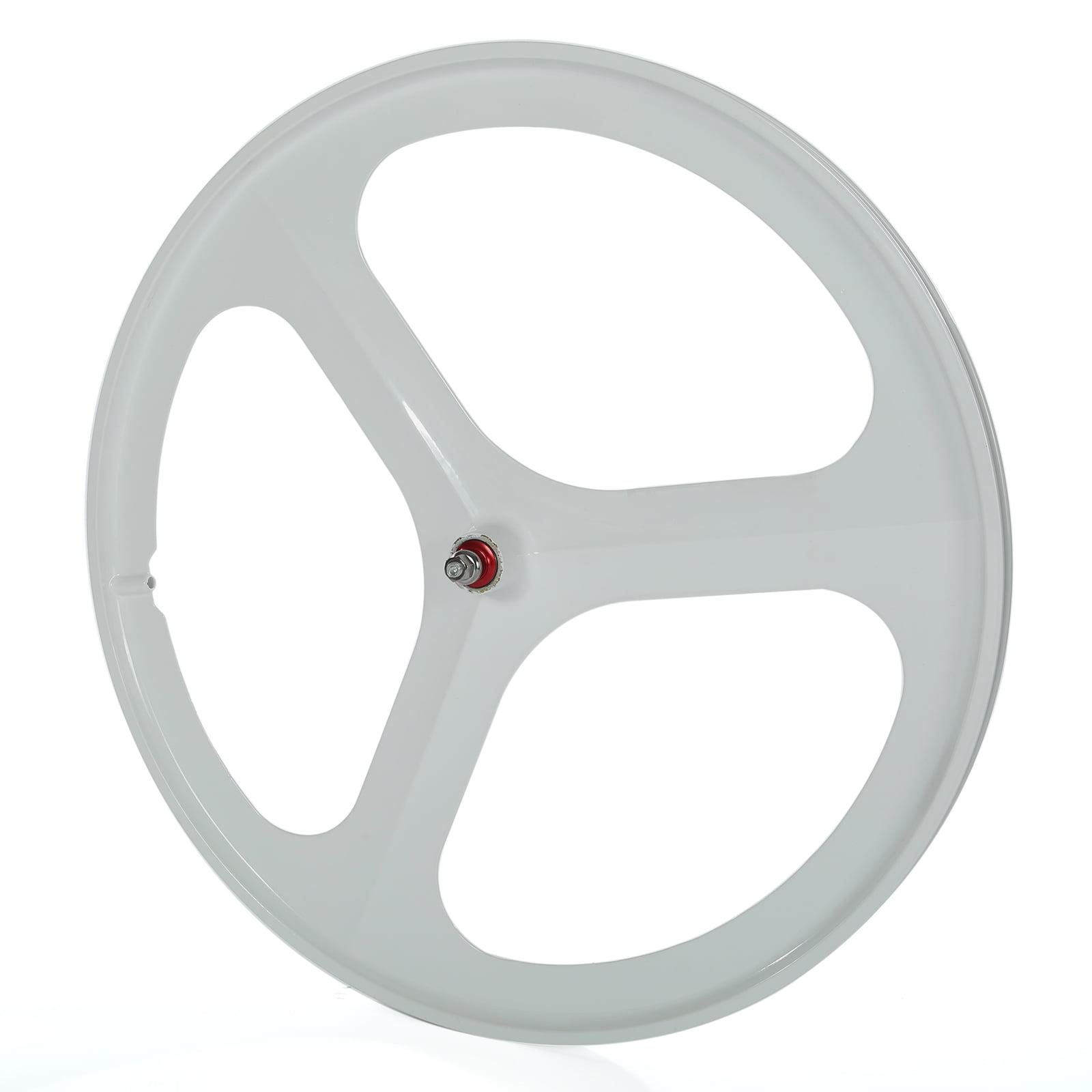 700c Tri Spoke Fixed Gear Single Speed Bike Front Rear Mag Wheel Rim Set