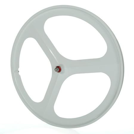 Fixed Gear Bicycle Wheels - SOLOMONE CAVALLI SC Fixed Gear 700c Tri Spoke Rim Front Rear Single Speed Fixie Bicycle Wheel Set