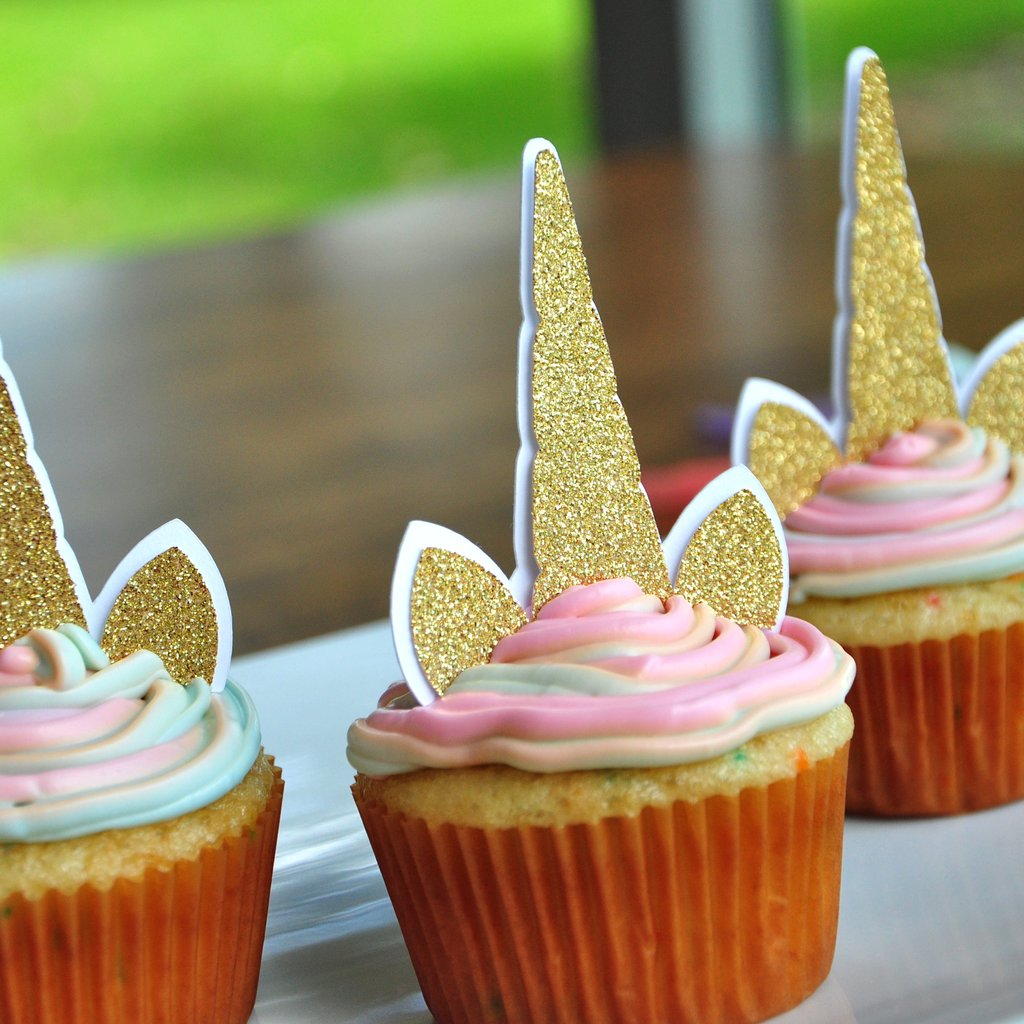 Unicorn Cupcake Toppers. Unicorn Birthday. Unicorn Party Supplies ...