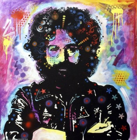 Jerry Garcia Poster Print by Dean Russo (10 x 10)
