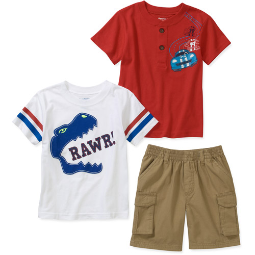 Garanimals Baby Toddler Boy 3-Piece Tee and Shorts Set
