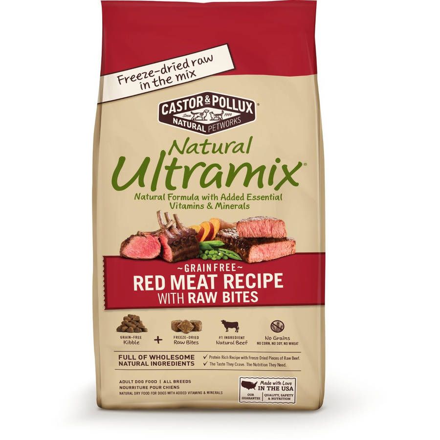 Castor and Pollux Grain Free Red Meat Recipe with Raw Bites, 12 lb