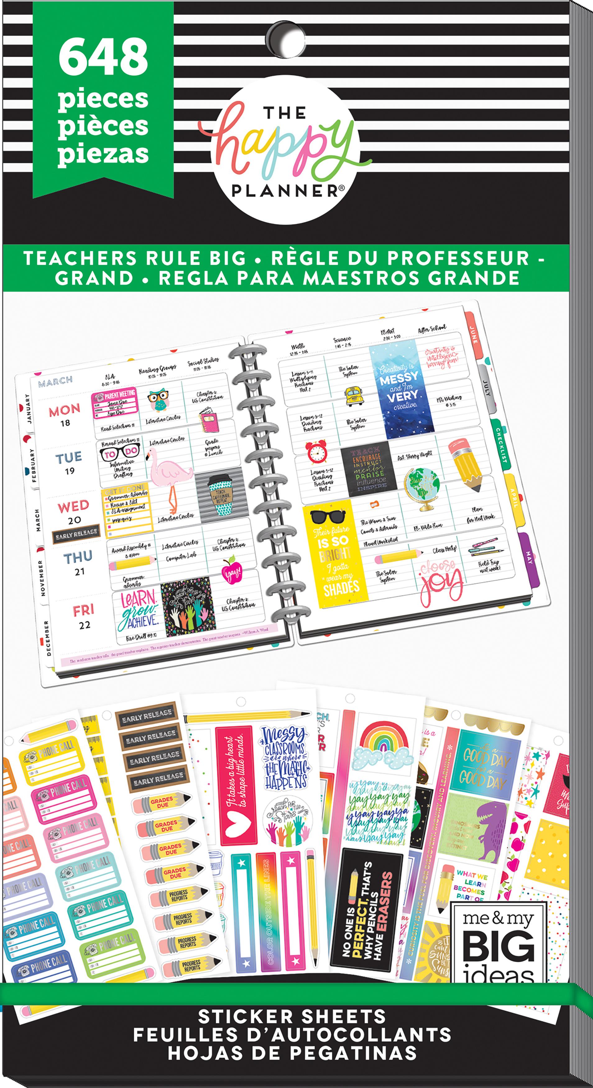Happy Planner Sticker Value Pack-Teachers Rule Big, 648/Pkg