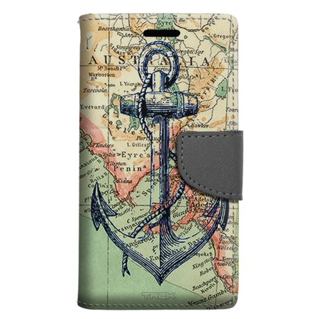 newest a576c 26ac9 LG Aristo 2 Wallet Case - Nautical Anchor Case