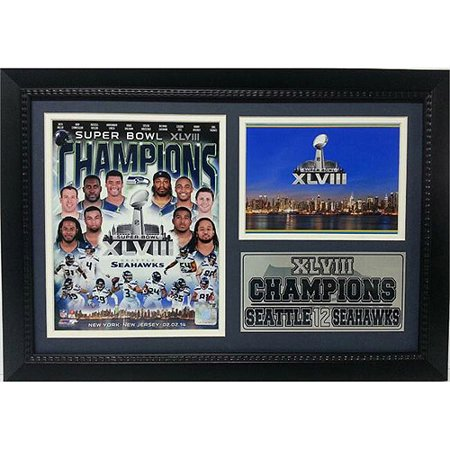Super Bowl XLVIII Champions Photo Stat Frame, Seattle Seahawks, 12