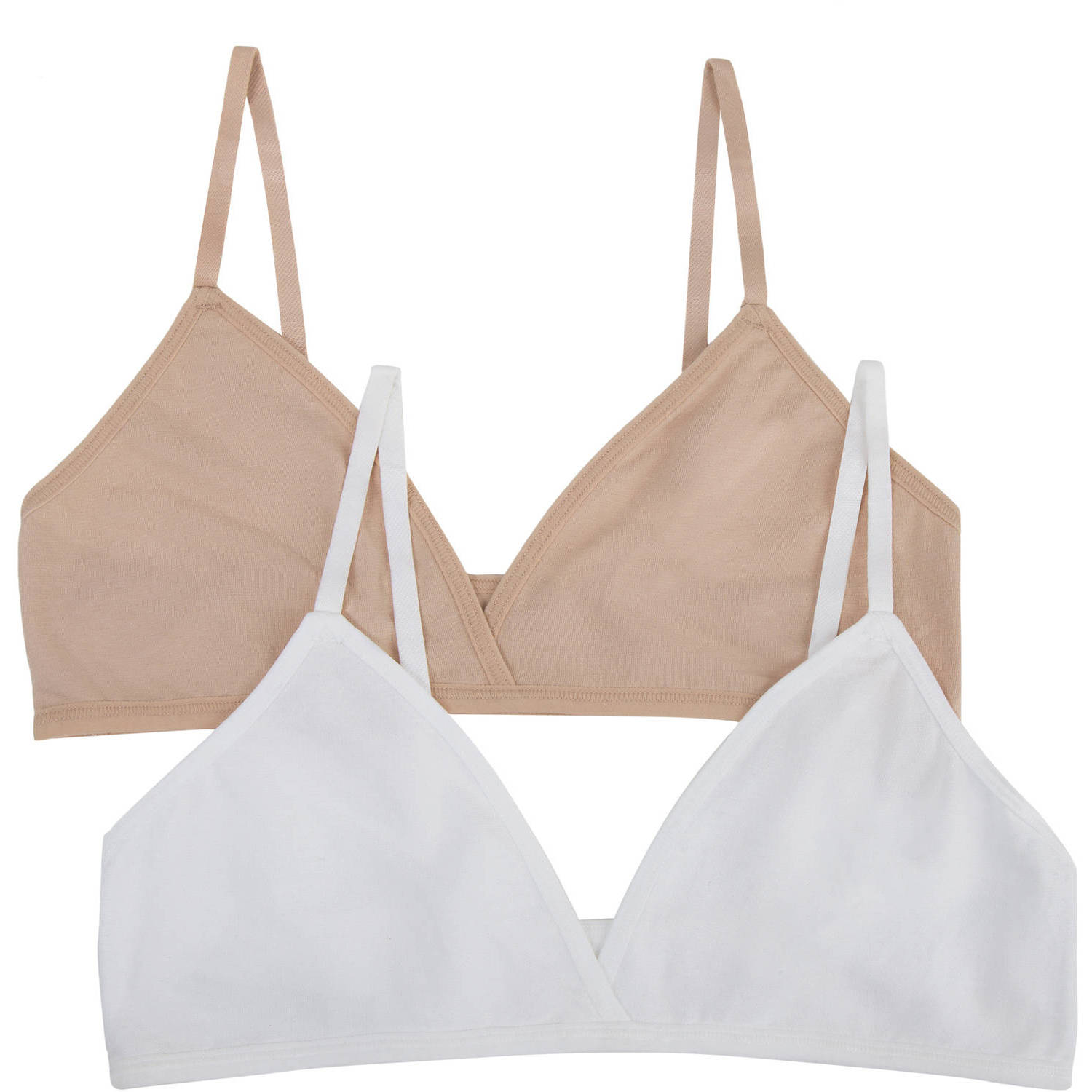 Fruit of the Loom Girls Cotton Bralette, 2 Pack (Little Girls & Big Girls)