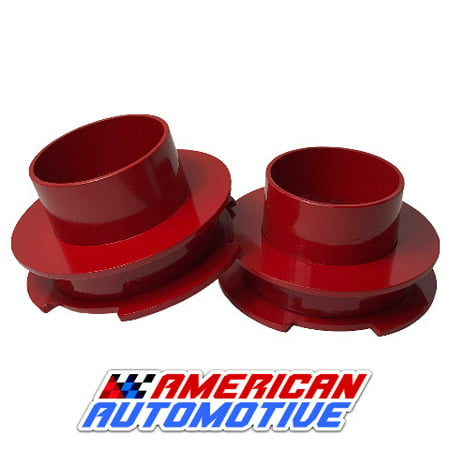 "1997-2003 F150 Lift Kit 2"" 2WD Red Steel Coil Spring Spacers"