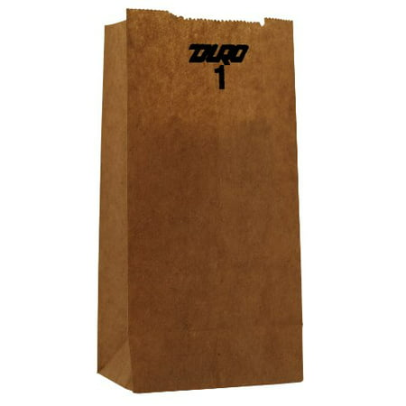 General #1 Kraft Paper Grocery Bags, 3 1/2 x 7 3/8 x 6 7/8, 500 count