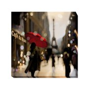 Artistic Home Gallery 'Paris Stroll' by Kate Carrigan Graphic Art on Wrapped Canvas