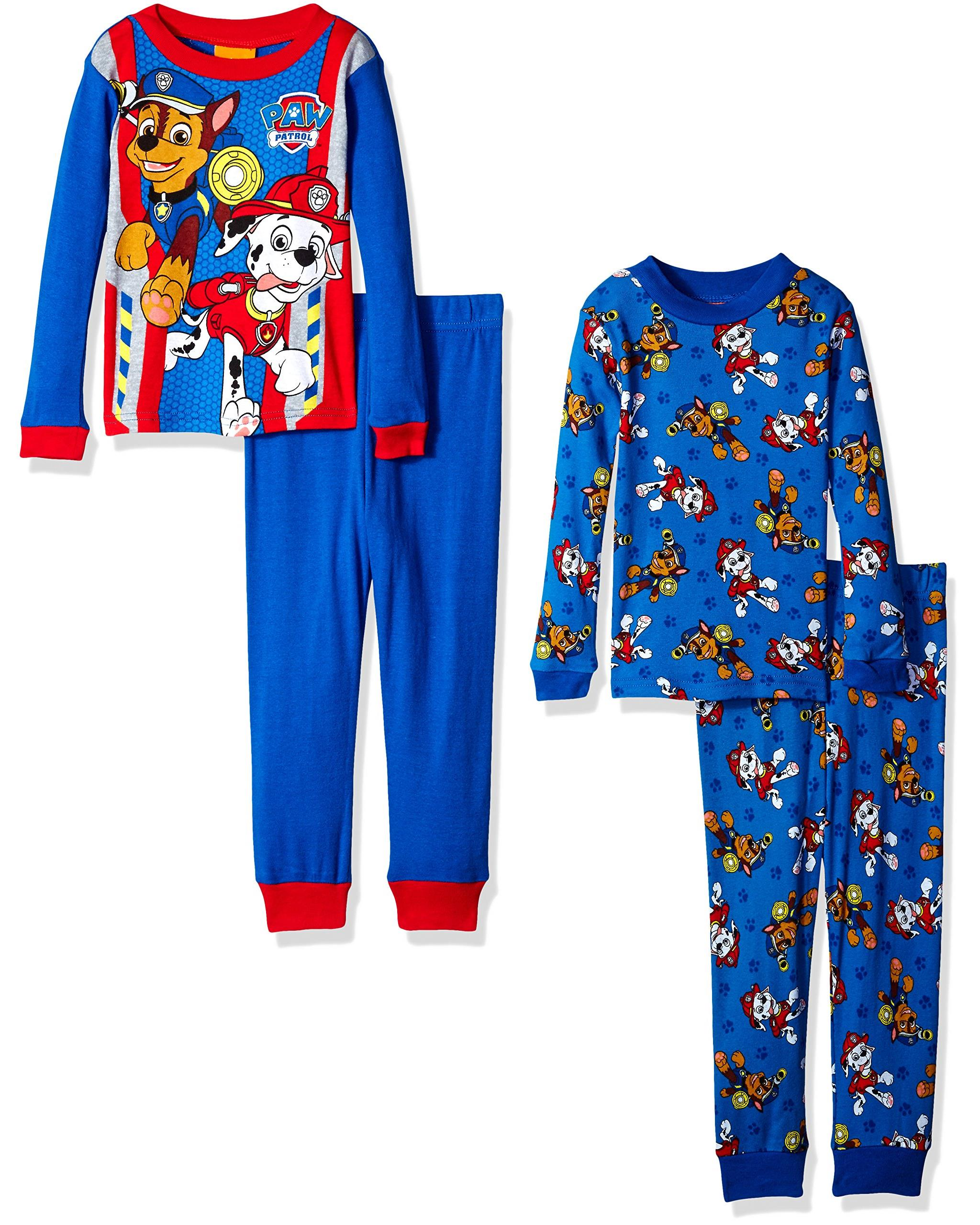 Nickelodeon - Boys  Paw Patrol Toddler 4-Piece Pajama Set - Walmart.com 16e674108