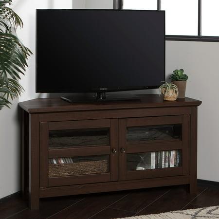 Walker Edison Wood Corner TV Stand for TVs up to 48u0022 - Espresso