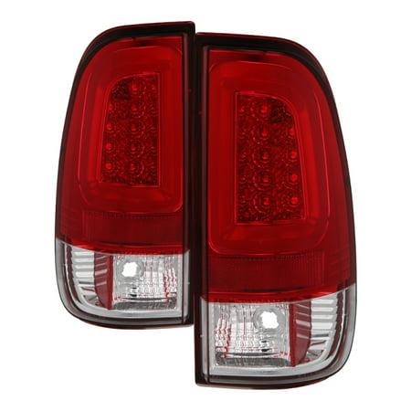 Alt Yd N350z02 Led (Spyder 08-16 Ford Super Duty F-250 V3 Light Bar LED Tail Lights - Red Clear)