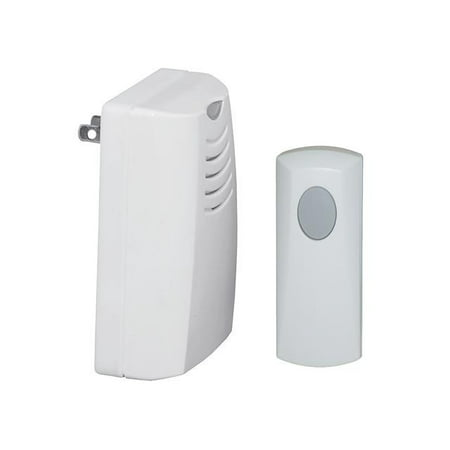 Honeywell Plug-in Wireless Door Chime and Push (6 White Door Chime)