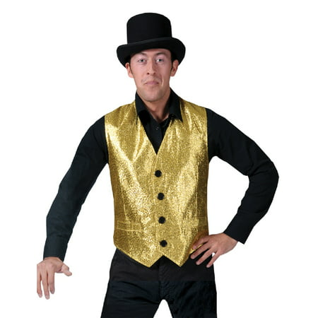 Gold Vest Men Adult Halloween Costume - (70's And 80's Party Costumes)