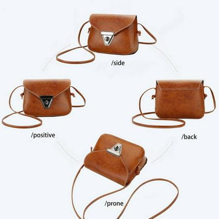 Fashion Soft PU Leather Women Crossbody Bag Adjustable Strap Shoulder Bag - image 4 of 10