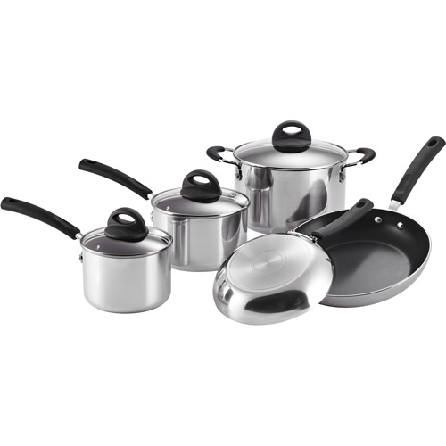 Tramontina Select 8-Piece Polished Aluminum Non-Stick Cookware Set