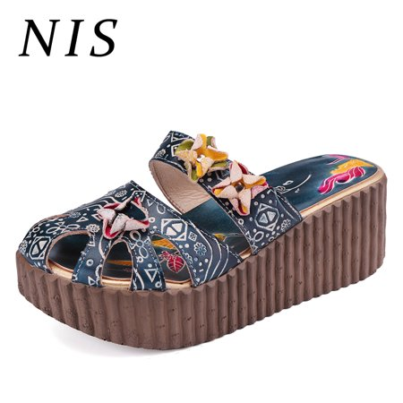 - NIS Women Handmade Leather Sandal Slippers Shoes