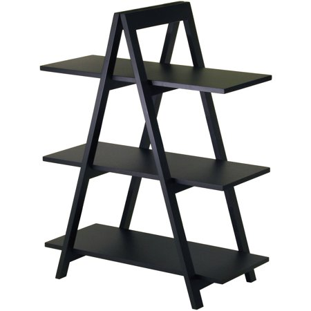 Wood A-Frame 3-Tier Shelf, Black - Walmart.com