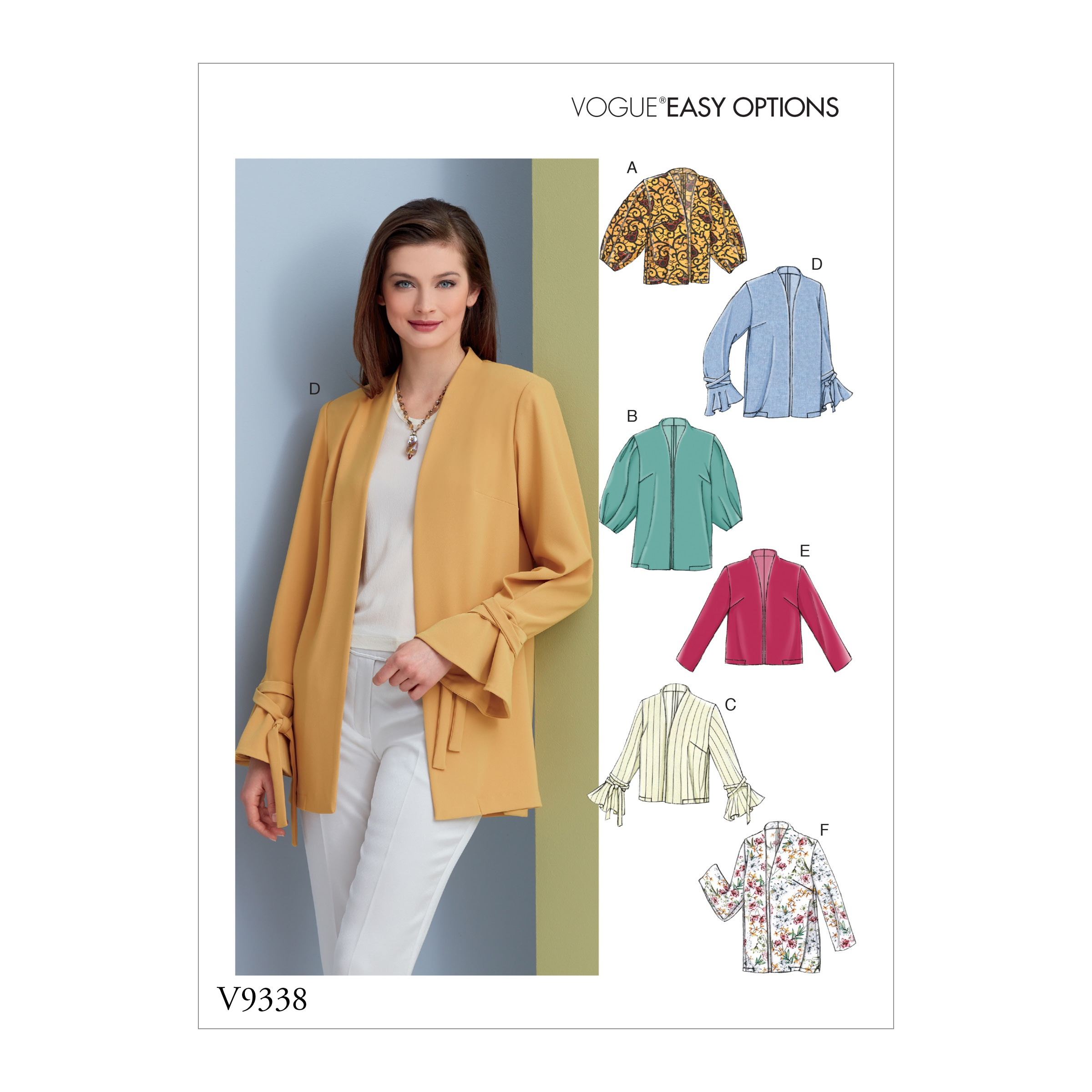 Vogue Patterns Sewing Pattern Misses' Jacket-14-16-18-20-22
